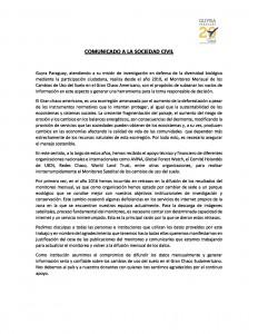 Comunicado-retraso-Informe-Deforestación