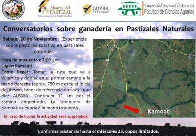 Reprograman Tercer conversatorio sobre ganadería en pastizales naturales