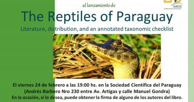 Lanzamiento del libro Reptiles del Paraguay