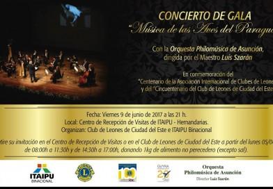 """Concierto de gala """"Música de las Aves del Paraguay"""""""