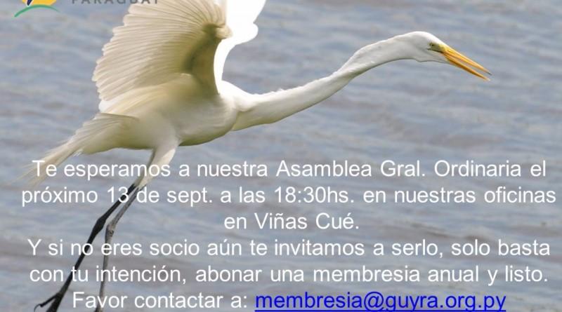 Invitación Asamblea Gral Guyra 2016