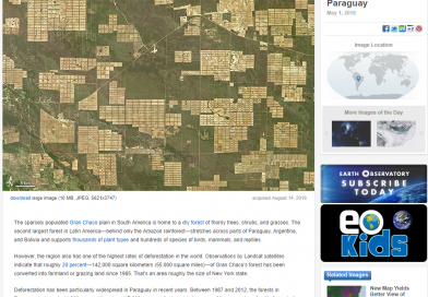 La NASA se hace eco del alarmante cambio de uso del suelo registrado en el Chaco Paraguayo